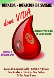 Donación de Sangre. Viernes 13 de Diciembre @ Cofradía de las Siete Palabras y de San Juan Evangelista | Zaragoza | Aragón | España