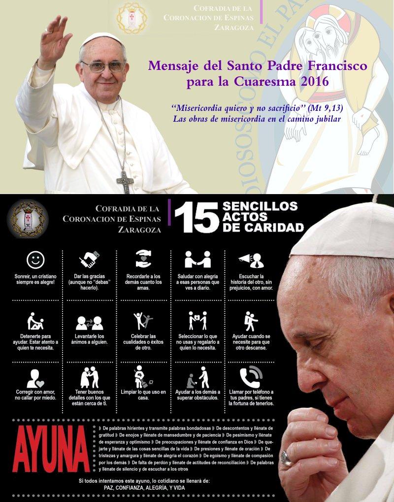 Cuaresma 2016 - Papa Francisco